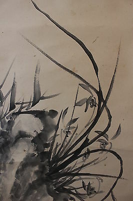 G04S6 ~Gorgeous Orchid & Bamboo~ Japanese hanging Scroll