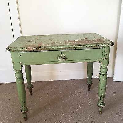 Vintage shabby chic retro antique desk/table/hall stand