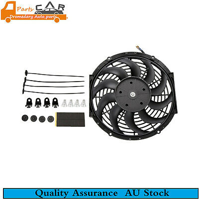 """12"""" Electric Radiator Slim Cooling Thermo Fan Universal & Mounting Kits"""