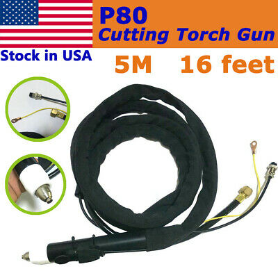 P-80 Air Plasma Cutting Cutter Torch Complete 13 feets & 4M cable for usa