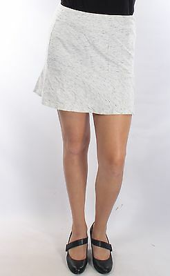KENSIE $59 New Womens 1834 White Speckle A-Line Above The Knee Skirt S BAB