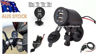 12V Motorcycle to 5V 2.1A Dual USB Waterproof Cigarette Car Charger