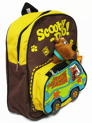 Scooby Doo Brown Backpack Bookbag School Bag #Van