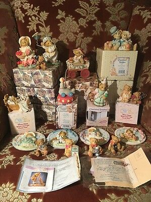 18 Cherished Teddies Some Boxed With Certificates