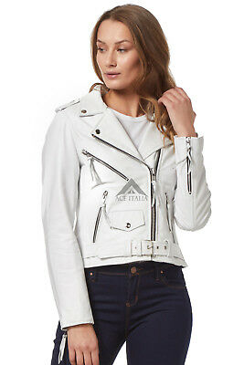 BRANDO Leather Jacket Ladies Tan Suede Leather BIKER STYLE SOFT REAL LEATHER MBF