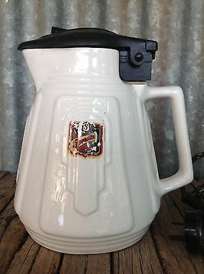 Rare! VINTAGE ART DECO Speedie LARGE CERAMIC KETTLE Bakelite Plug