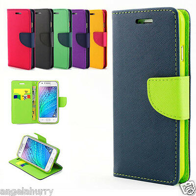 Galaxy J1 / ACE J2 2016 / J3 Mini Case, Flip Leather Wallet Cover For Samsung