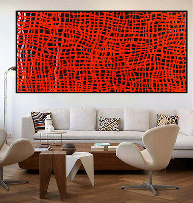 Huge 1300mm by 700mm Aboriginal style painting by Judy N. Narnina