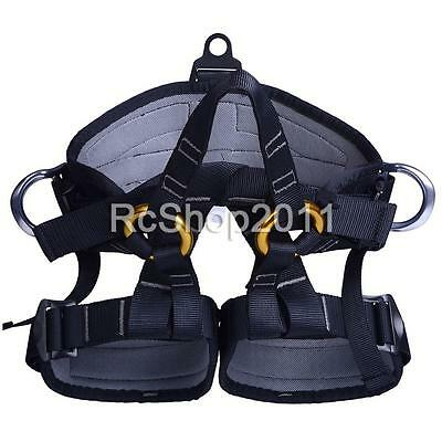 Rock Climbing Tree Surgeon Rappelling Harness Seat Safety Sitting Bust Belt