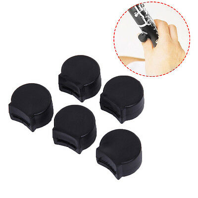 5PCS Black Rubber Clarinet Thumb Rest Cushion Comfort Protector