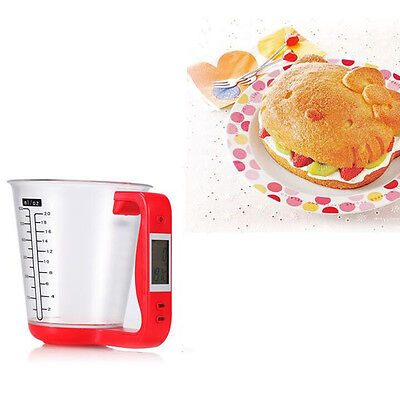 Hot Digital Cup Scale Home Measuring Jug Cup with LCD Display Temp Measuring Cup