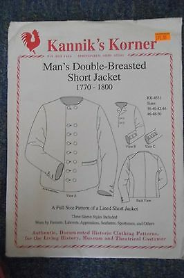 Kannik's Korner - Mans Double-Breasted Short Jacket - 1750-1800