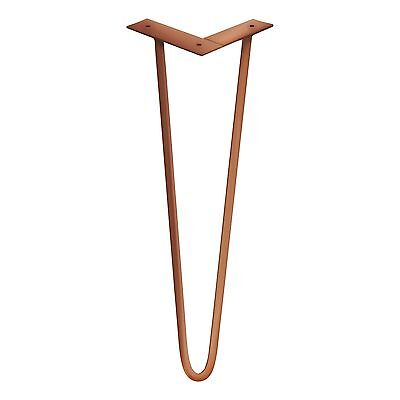 SALE  Powder Coated 2 rod HAIRPIN  LEG in Gold or Copper  $34.50-$41.50 /leg