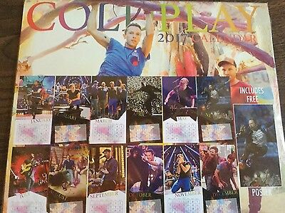 Cold Play 2017 Calendar With Free Poster