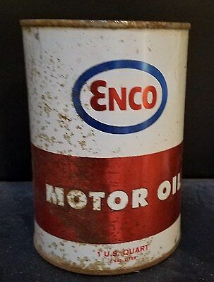 Vintage ENCO (Humble) Motor Oil quart can-SAE 40 -FULL!