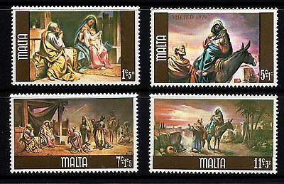 Malta 1979 Christmas Complete Set SG634 - 637 Unmounted Mint