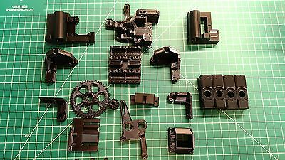 3DPrinter Prusa I3 ReWork Printed parts ABS BLACK , high quality!