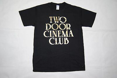 Two Door Cinema Club Gold Logo Tour 2013 T Shirt New Official Beacon Gameshow