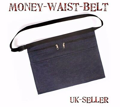 Denim Market Trader Money Belt Bag Apron Adjustable Waist Strap 4 Pocket UK P&P