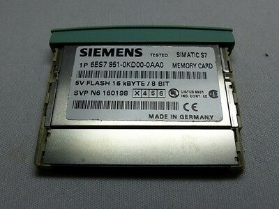 SIEMENS SIMATIC Memory Card 16kb 6ES7 951-0KD00-0AA0 E-Stand: 3 (4884)