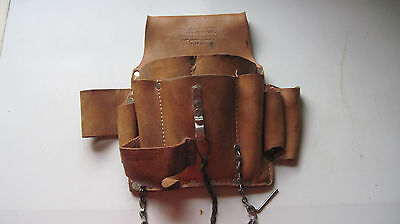 Craftsman Leather Electrician Tool Pouch with Belt