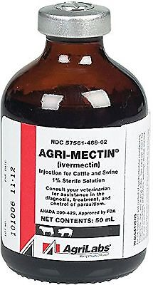 Generic Ivermectin Injectable for Cattle & Swine - 50 ml FREE SHIPPING