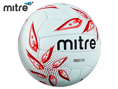 *brand New* Mitre 2017-18 - Shooter Match Netball - White/ruby/red