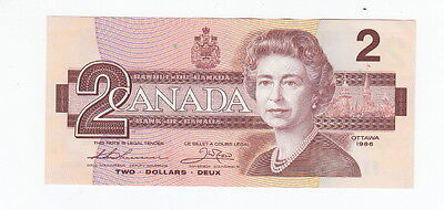 1986 Canadian Two Dollar Bank Note…Big B Varient