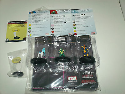 Rare Heroclix Deadpool (101), Cosmic X-23 (102), Wolverine (103)lot of three WOW