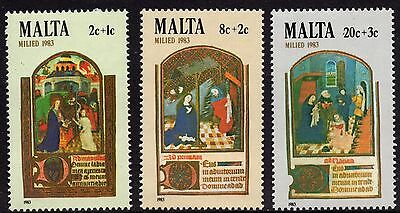 Malta 1983 Christmas Complete Set SG719 -721 Unmounted Mint