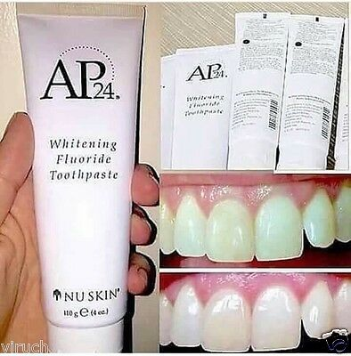 Nu Skin Tooth Whitening Toothpaste AP-24 Fluoride 110G. With Tracking Number.