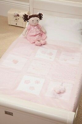 silver cross luxury cot/cot bed quilt hand stitched brand new rrp £58