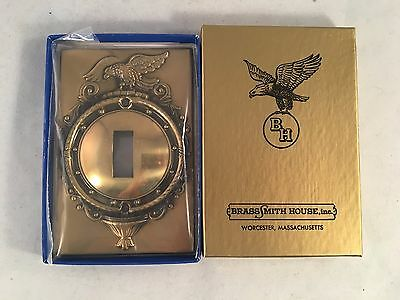 BrassSmith House - Single Toggle Brass Switch Plate Federal Eagle SP-1B NIB!