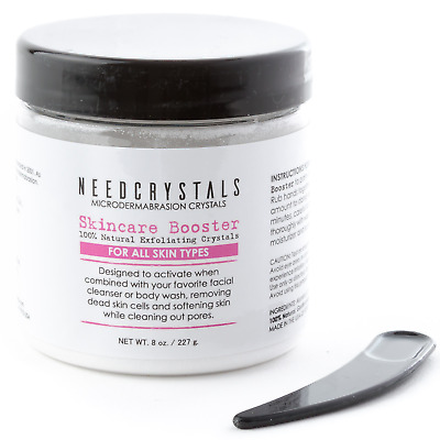 NeedCrystals Microdermabrasion Crystals (8 oz, 120 grit) Aluminum Oxide Crystals