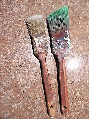 2 Vintage Paint Brushes Woosters trimming painting