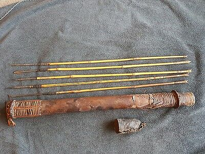 Antique African tribal quiver & arrows