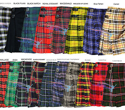 Scottish Traditional 8 Yard & 13oz Tartan Kilts - 8 Yard Kilts