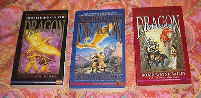 3 books by Robin Wayne Bailey - Brothers, Triumph & Flames of the Dragon