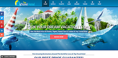 Established Profitable Fully AUTOMATED Turnkey TRAVEL BOOKING Website For Sale