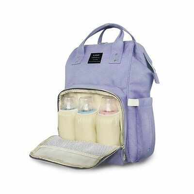 Huluwa Purple Bag Multi-Function Waterproof Travel Backpack Nappy Bags for Baby