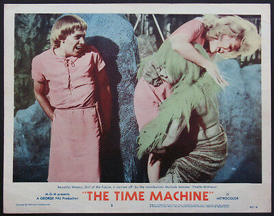 The Time Machine Yvette Mimieux Grabbed By Morlock Sci-Fi 1960 Lobby Card #3