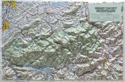 Great Smoky Mountain National Park Raised Relief Map