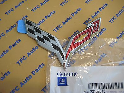 Chevy Corvette C7 Rear Bumper Emblem Flags OEM Genuine GM New  2014-2017