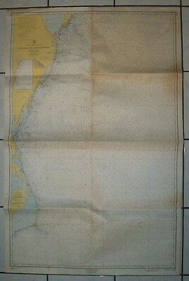 1960 Antique Nautical Map Chart of Cape May to Cape Hatteras 1109