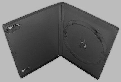 Standard 14mm Black Signle Disc DVD Cases with Outer Clear Sleeve