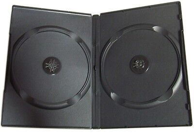 STANDARD Black Double DVD Cases (100% New Material)