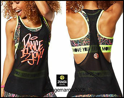 ZUMBA FITNESS DANCE Tied Up Tank Tee GumBall Fun RARE//EliteZWear from Convention