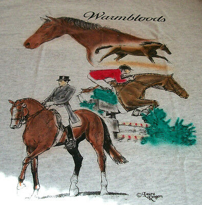 "Warmbloods Horse T-shirt "" Natural "" XL ( 46 ~ 48 )"
