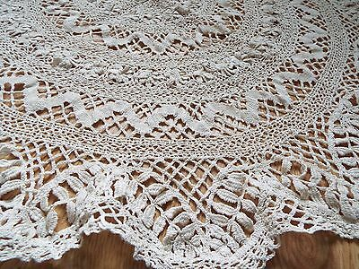 Large vintage/antique Lace Doily or table topper in cream