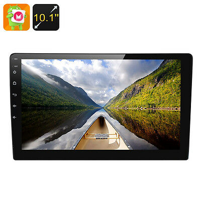 2 DIN Android 6 0 Car Media Player 10 1 Inch Display Touch Screen GPS Bluetooth